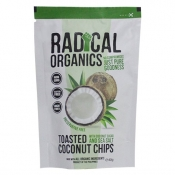 Radical Organics Toasted Coconut Chips Original Recipe (with Coconut Sugar and Sea Salt) 40g