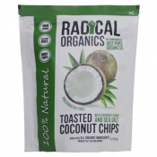 Radical Organics Toasted Coconut Chips Original Recipe ( With Coconut Sugar and Sea Salt) 80g