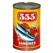 555 Sardines in Tomato Sauce Chili 425g