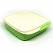 Tupperware Square Divided Lunch Box - Honeydew