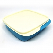 Tupperware Square Divided Lunch Box - Cool Aqua
