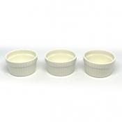 Masflex 3pc Round Snack Bowl l Porcelain  Serveware