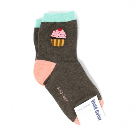 Custom Cup Cake  Design Hi-Cut Socks