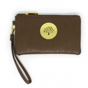 Wristlet Wallet (Removable handle) - Brown