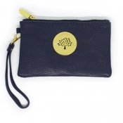 Wristlet Wallet (Removable handle) - Dark Blue