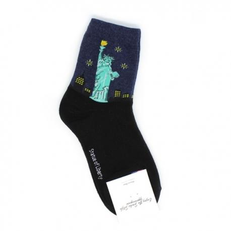 Statue of Liberty Themed Hi-Cut Socks