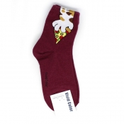 Sneaked Pizza Hi-Cut Socks