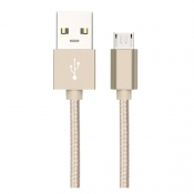 Midas Micro USB Charging Cable for Android - Champagne Gold