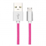 Midas Micro USB Charging Cable for Android - Hot Pink