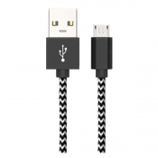 Midas Micro USB Charging Cable for Android - Zebra