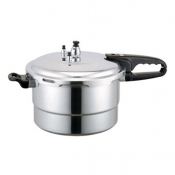 7.5 QUART POLISHED ALUMINUM PRESSURE COOKER