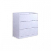 3 Drawer Lateral File Light Gray/ Dark Gray