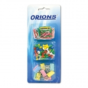 Orions Binder Clips, Paper Clips and Push Pins Pack