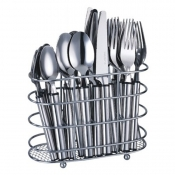 24pc Cutlery Set with Oval Basket