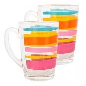 LUMINARC Glass Mug (Stripes)