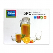 Home Gallery 5pc Pitcher Glassware Set