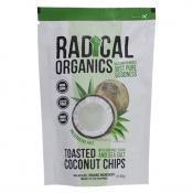 Radical Organics Toasted Coconut Chips Original Recipe (with Coconut Sugar and Sea Salt) 40g