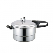 6 Quart Polished Aluminum Pressure Cooker