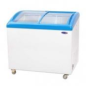 Fujidenzo Curved Glass Top Chest Freezer