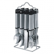 24 pc Cutlery Set with Metal Stand