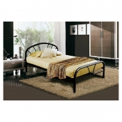 "Buy Mimosa Black Bed Frame 54""x75"" online at Shopcentral Philippines."