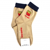 Buy French Fries Ya-MI Design Hi-Cut Socks online at Shopcentral Philippines.