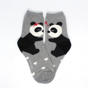 Buy Panda Couple Design Hi-Cut Socks online at Shopcentral Philippines.