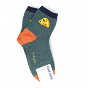 Buy Custom Pizza Design Hi-Cut Socks online at Shopcentral Philippines.