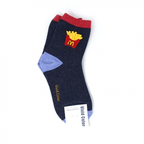 Buy Custom Fries Design Hi-Cut Socks online at Shopcentral Philippines.
