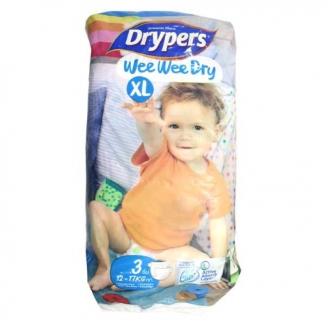 Buy Drypers Wee Wee Dry XL 3's online at Shopcentral Philippines.