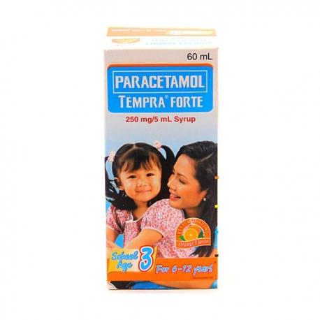 Buy Paracetamol Tempra FORTE School Age 3 60ml Syrup Orange Flavor online at Shopcentral Philippines.