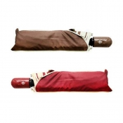 Buy Buy 1 Take 1 Automatic Foldable Umbrella Set 12 (Brown/Maroon) online at Shopcentral Philippines.