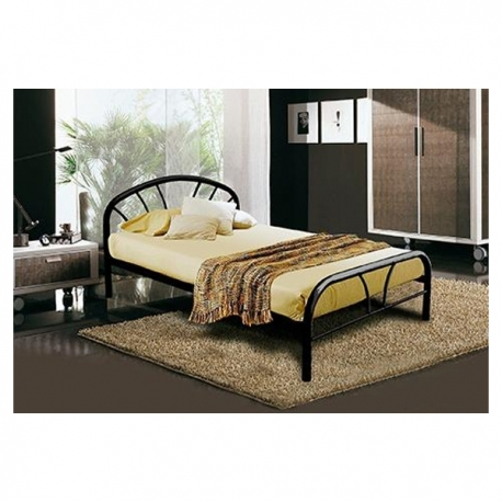"""Buy Mimosa Black Bed Frame 54""""x75"""" online at Shopcentral Philippines."""