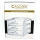 Cascade 3 Layer Drawer Cosmetic Organizer