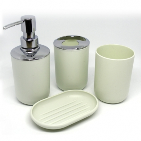 Buy Cascade Bathroom Organizer Set 4pc Dark White online at Shopcentral Philippines.