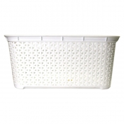 Buy Rattan Rectangle Laundry Basket 26L - White online at Shopcentral Philippines.