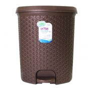 Buy Rattan Pedal Dust Bin No. 3 - Brown online at Shopcentral Philippines.