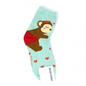 Buy Monkey Couple Design Hi-Cut Socks online at Shopcentral Philippines.