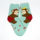 Monkey Couple Design Hi-Cut Socks