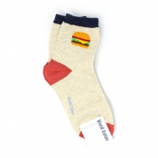 Buy Custom Burger Design Hi-Cut Socks online at Shopcentral Philippines.