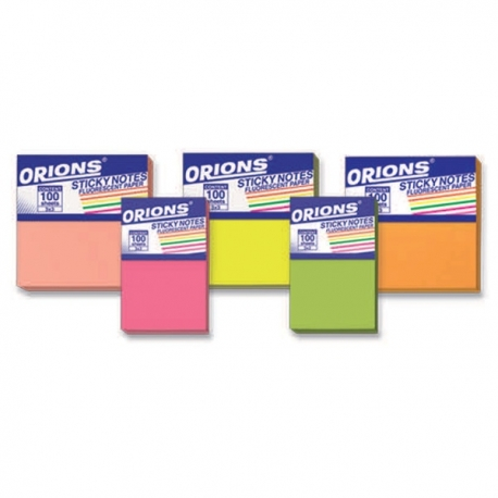 Buy Orions Sticky Notes Fluorescent  online at Shopcentral Philippines.