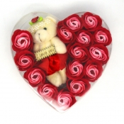 Buy Rose Soaps & Bear in a Heart Acetate - 15pcs online at Shopcentral Philippines.