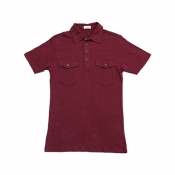 Buy Cotton Collar Polo Shirt Maroon online at Shopcentral Philippines.