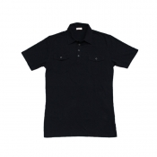 Buy Cotton Collar Polo Shirt Black online at Shopcentral Philippines.
