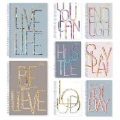 Buy Sterling Notebook On Point Typography Spiral Notebook 685 online at Shopcentral Philippines.