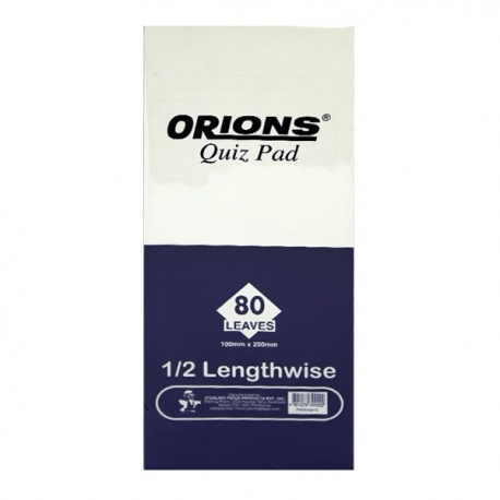 Buy Orions Writing Pad Quiz Pad Lengthwise online at Shopcentral Philippines.