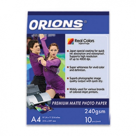 Buy Orions Photo Paper A4 Premium Matte 240gsm online at Shopcentral Philippines.