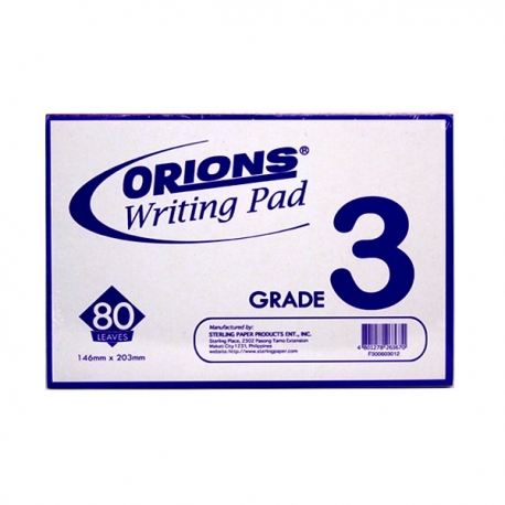 Buy Orions Writing Pad Grade 3 Solo online at Shopcentral Philippines.