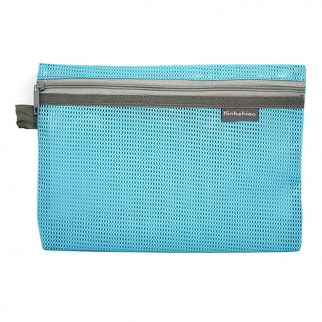 Buy Mesh Pencil Case Light Blue Large online at Shopcentral Philippines.