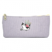 Buy Canvass Pencil Case w/ Acrylic Box Cat 3 online at Shopcentral Philippines.